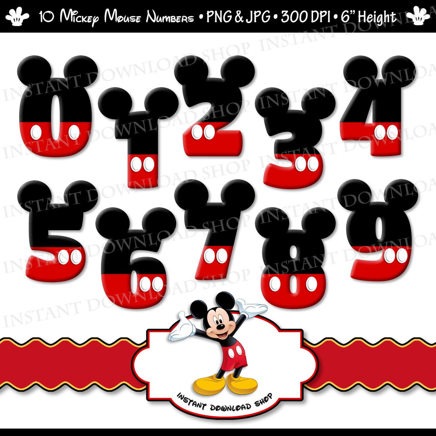 Popular Items For Mickey Mouse Clipart On Etsy