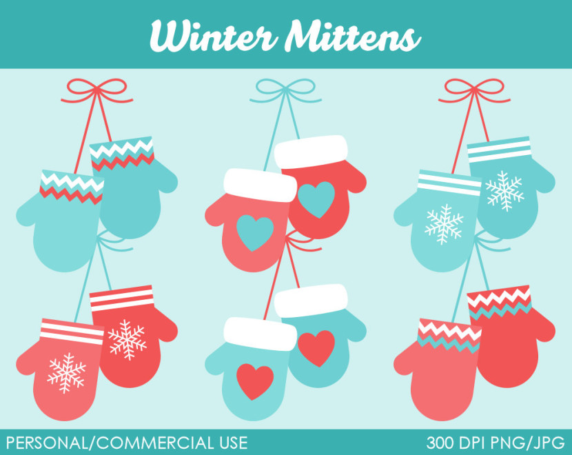 Popular Items For Mittens Clipart On Etsy