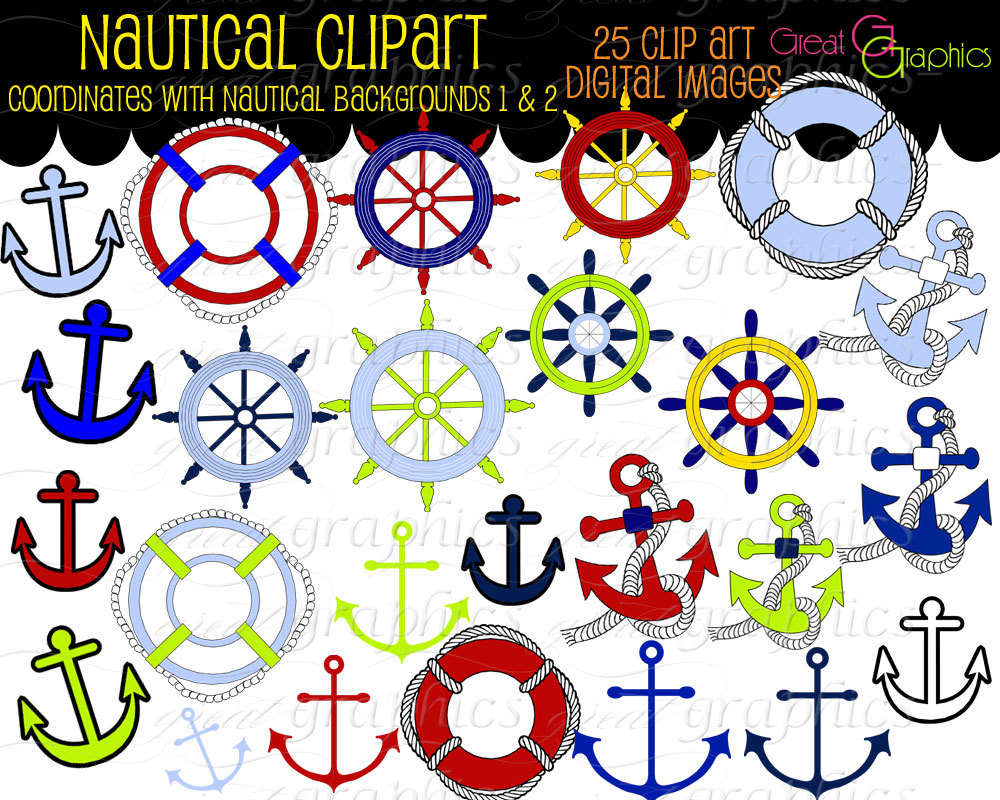 Popular Items For Nautical Clip Art On Etsy
