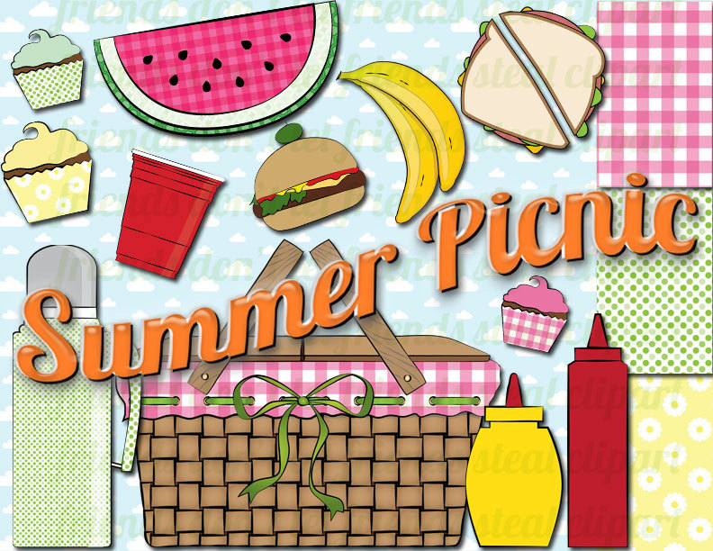 Popular Items For Picnic Clipart On Etsy