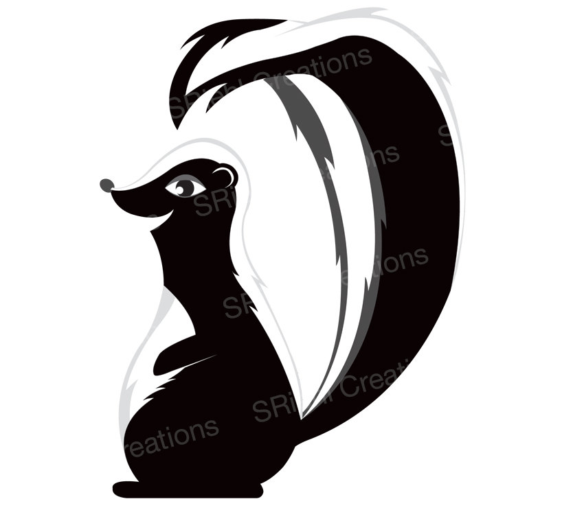 Popular Items For Skunk Clipart On Etsy