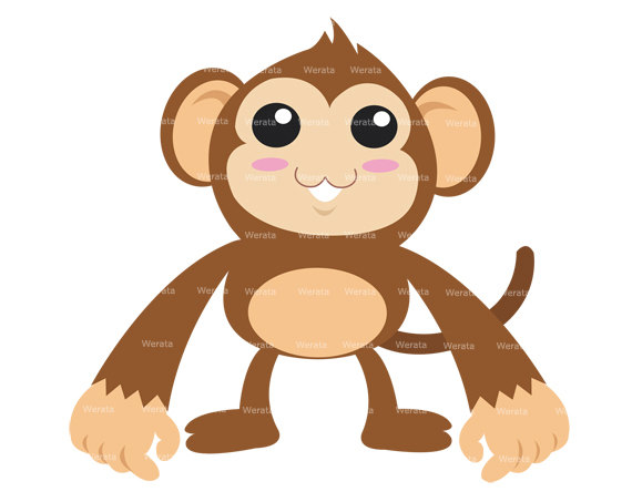Popular Items For Sock Monkey Clipart On Etsy