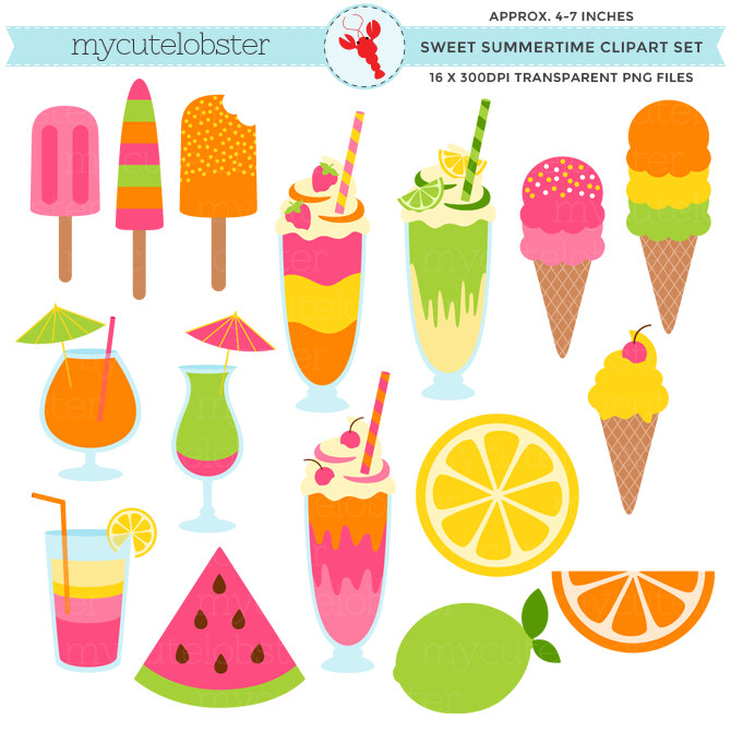 Popular Items For Summertime Clipart On Etsy