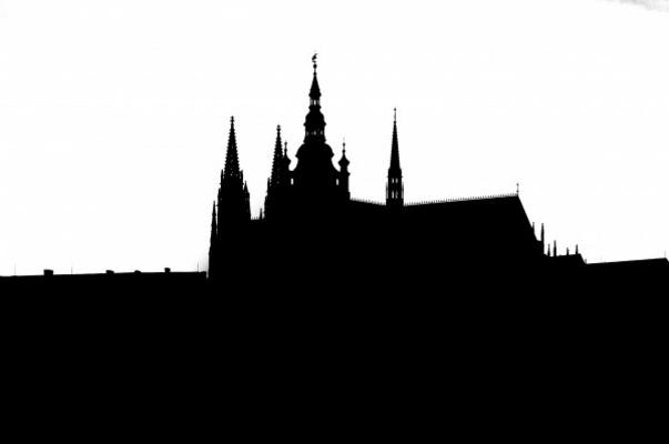 Prague Castle Silhouette Of Cathedral Michal Boubin As Art