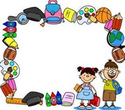 Preschool Border Clip Art Black And White Free