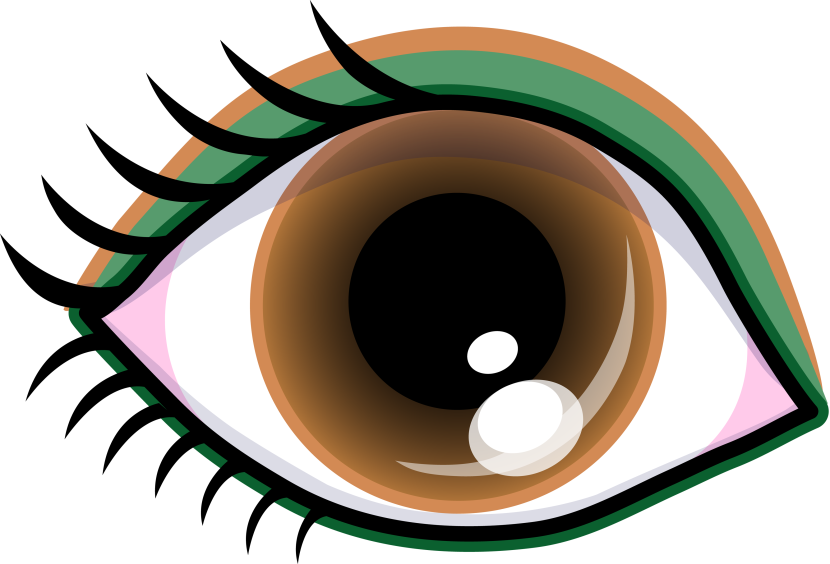 Pretty Brown Eye With Shadow Free Clip Art