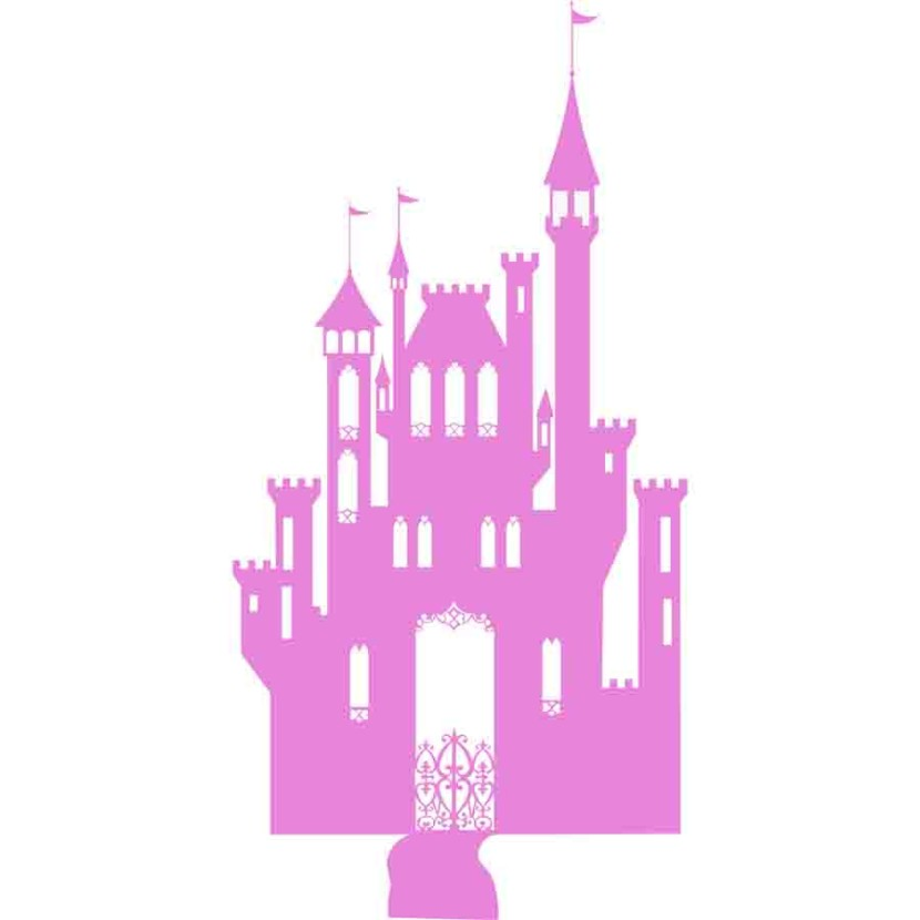 Princess Castle Silhouette Solid Vinyl More Than Vinyl