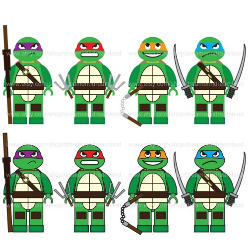 Printable Ninja Turtle Template Teenage Mutant Clipart Free Clip