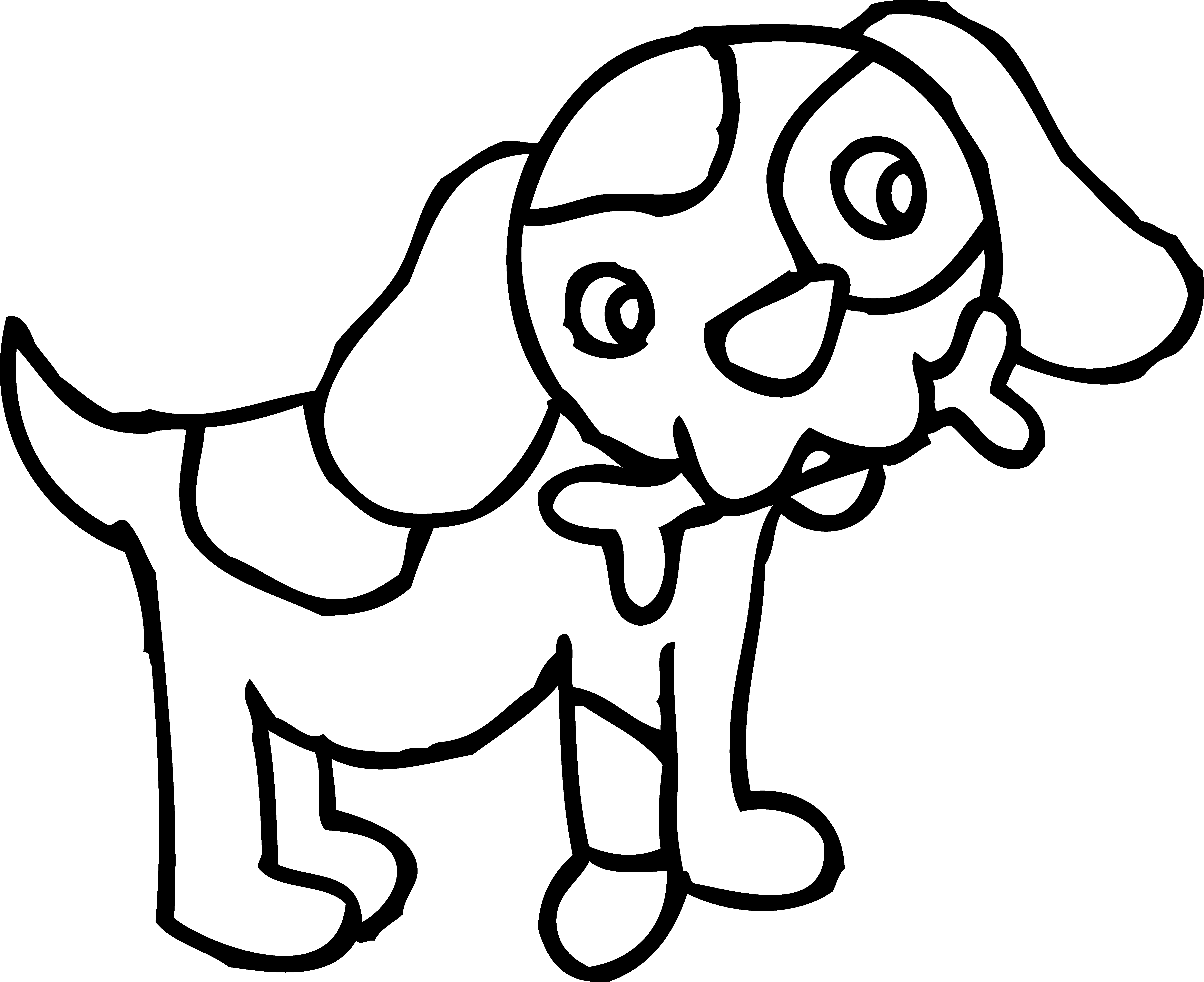 Best Puppy Clipart Black And White #20620 - Clipartion.com