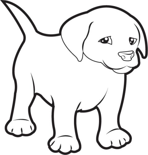 Puppy Clip Art Black And White Free Clipart Images