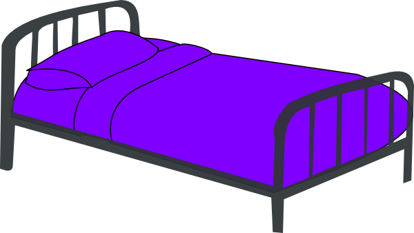 Purple Bed Clip Art At Vector Clip Art Online Royalty