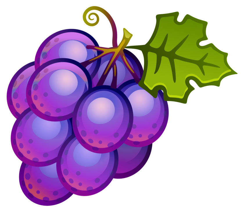 Purple Grapes Clipart Free Clipart Images