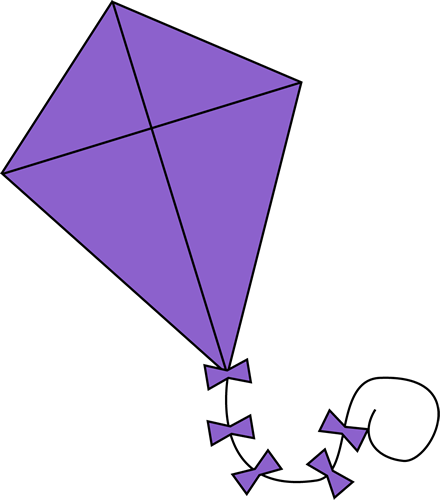 Purple Kite Clip Art Purple Kite Image