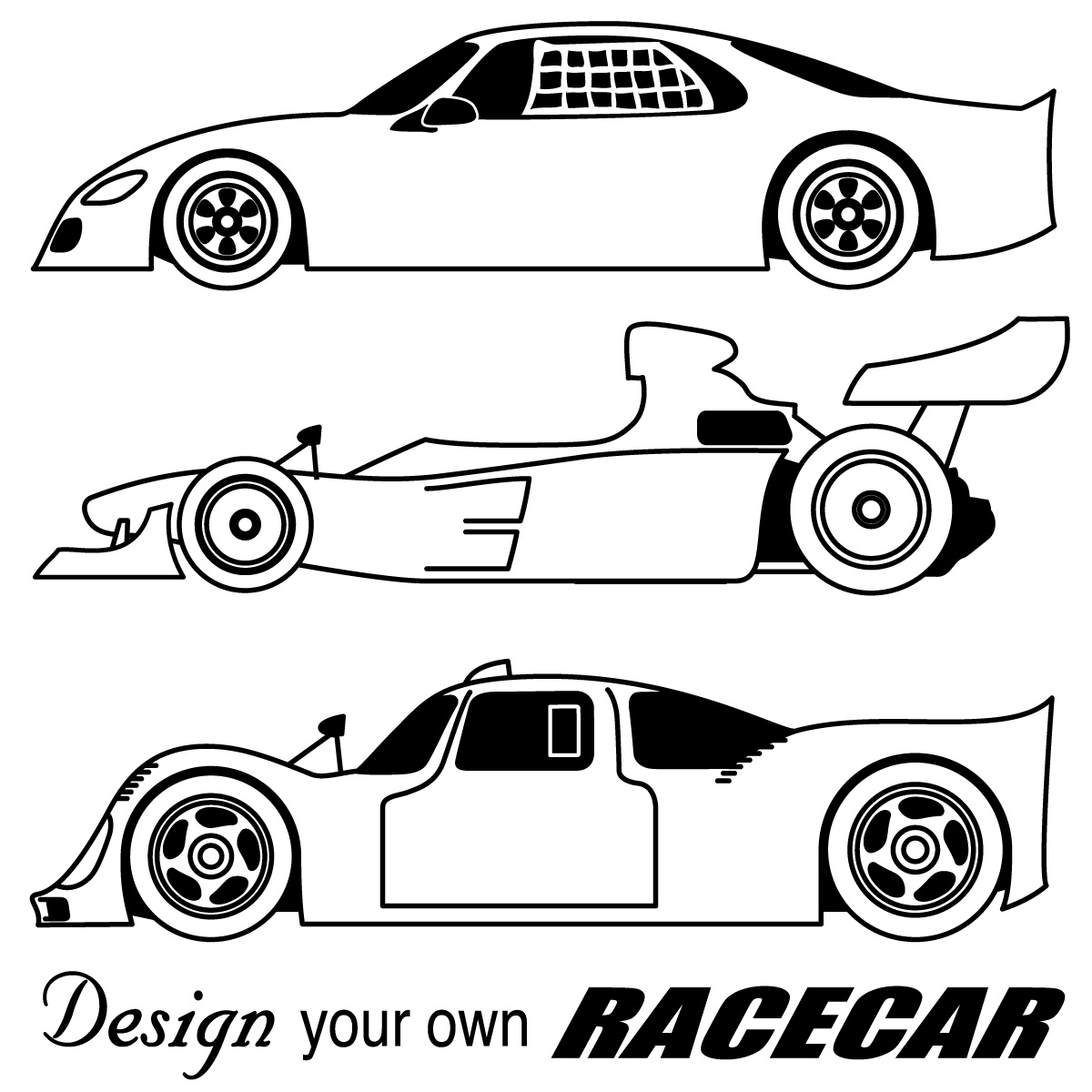 Race Car Clipart Black And White Gallery