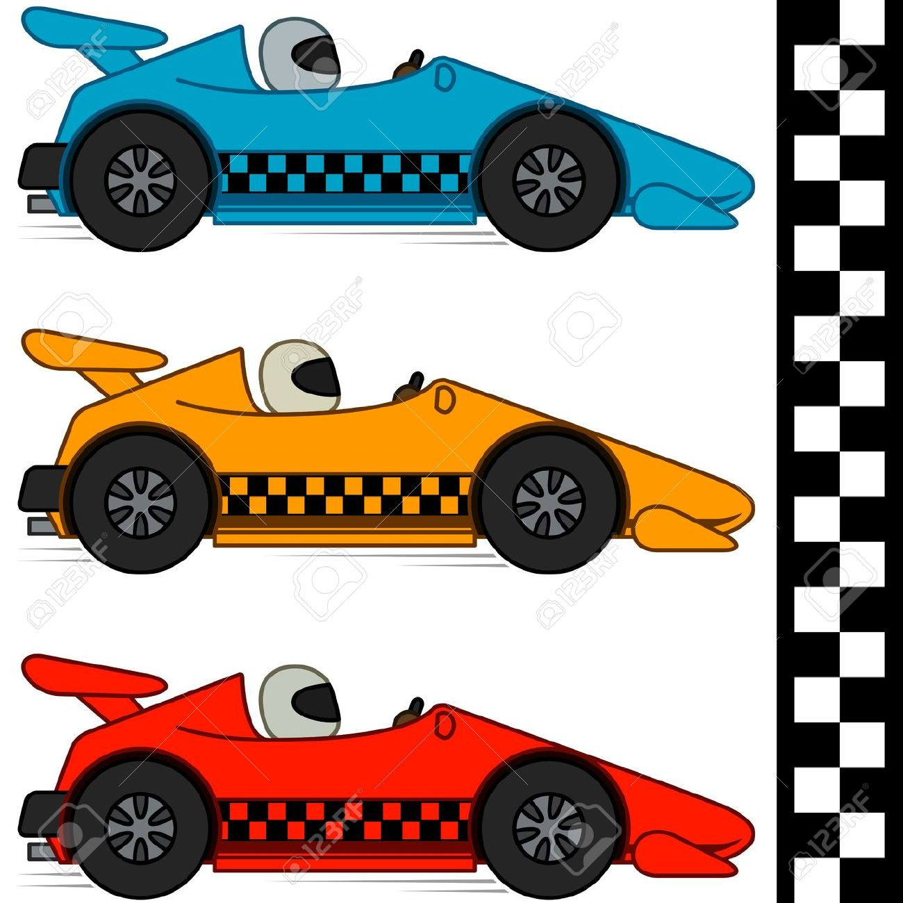 Free Clipart 12324 on race car flag printable