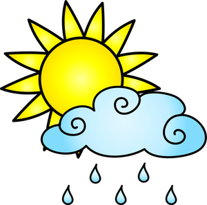 Rain Clipart Image Weather Icon Partly Cloudy With A Chance Of