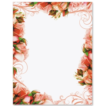 Ravishing Roses Border Papers Paperdirect