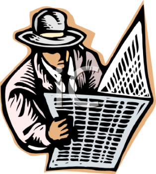 Reading Newspaper Free Clipart Free Clip Art Images
