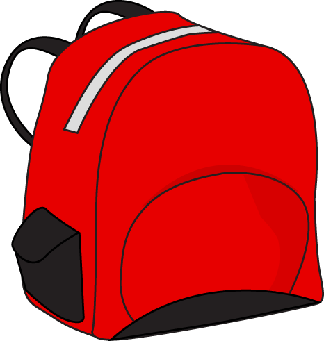 Red Backpack Clip Art Red Backpack Vector Image