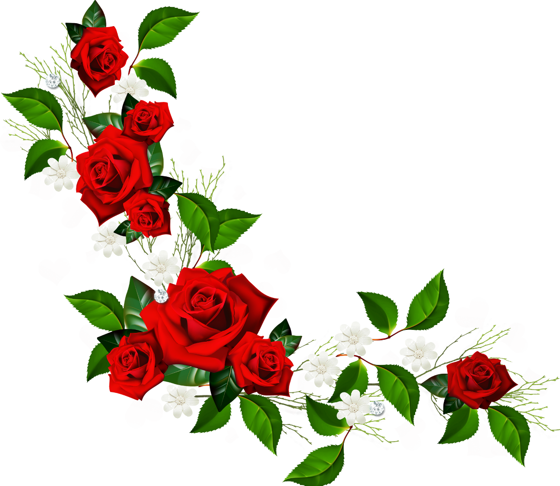 Red Rose Border Clipart Free Clip Art Images