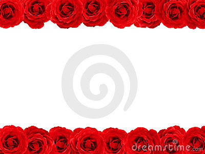 Red Rose Border Stock Image Image 1