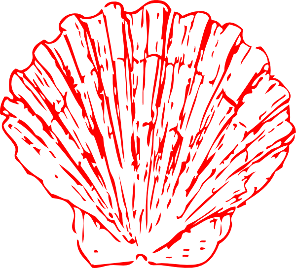 Red Seashell Clip Art At Vector Clip Art Online