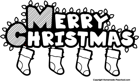 Religious Merry Christmas Clip Art Black And White 1 Png