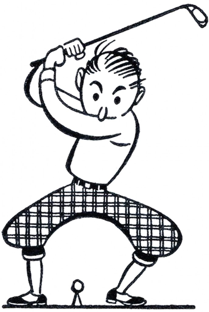 Retro Golf Clip Art Funny The Graphics Fairy