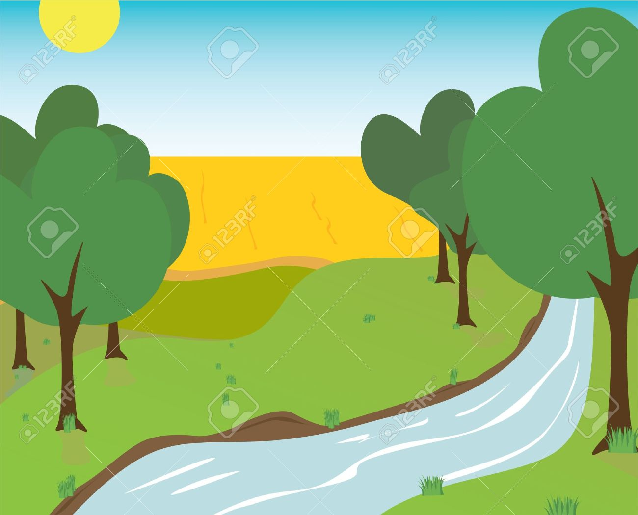 Riverbank Clipart Free Clipart Images