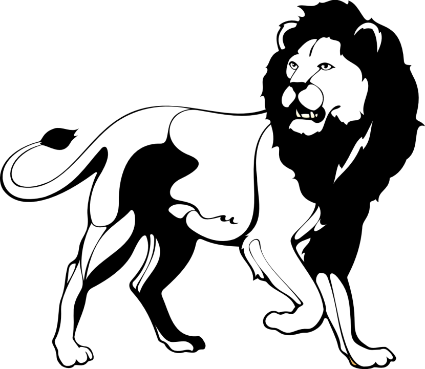 Roaring Lion Clipart Black And White Free