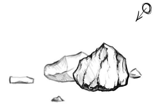 Rock Clipart Black And White Gallery