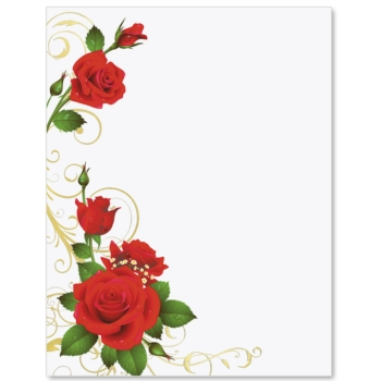 Romance And Roses Specialty Border Papers Paperdirect