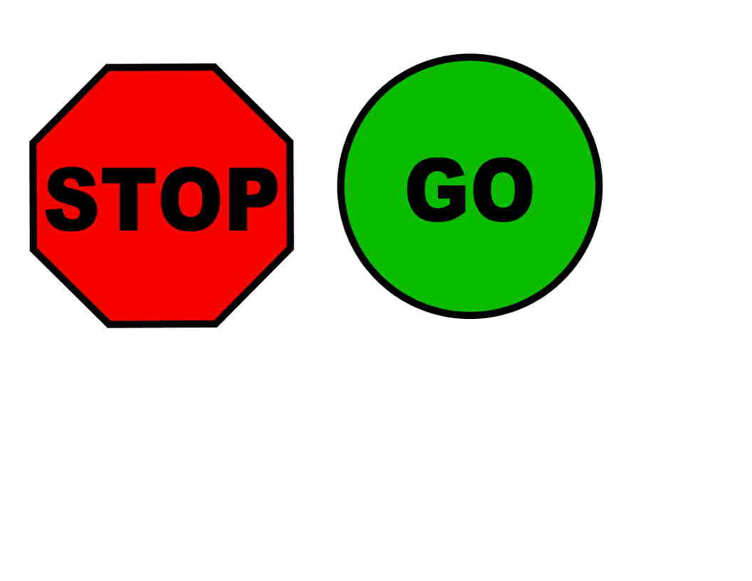 Round Go Sign Clipart