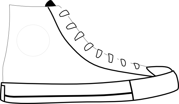 Running Shoes Clipart Black And White Free