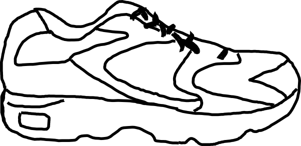Running Shoes With Wings Clipart Free Clipart Images