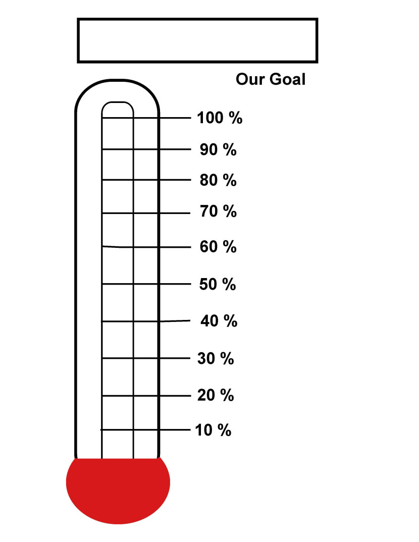 Best thermometer template 15368 for Charity thermometer template