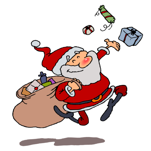 Santa Claus Clip Art Cartoons Free