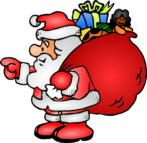 Santa Claus With His Bag Clip Art At Vector Clip Art