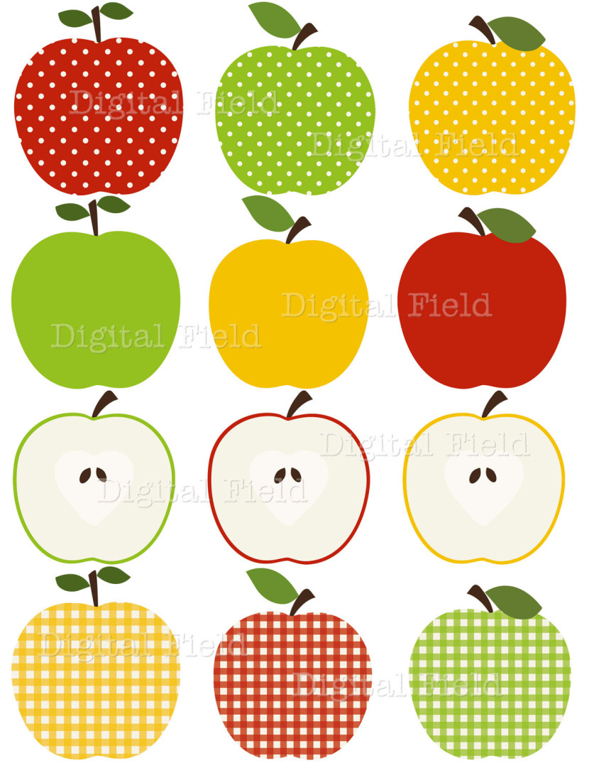 School Apple Set Red Clipart Free Clip Art Images