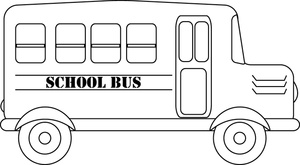 School Bus Clip Art Black And White School Bus Coloring Page