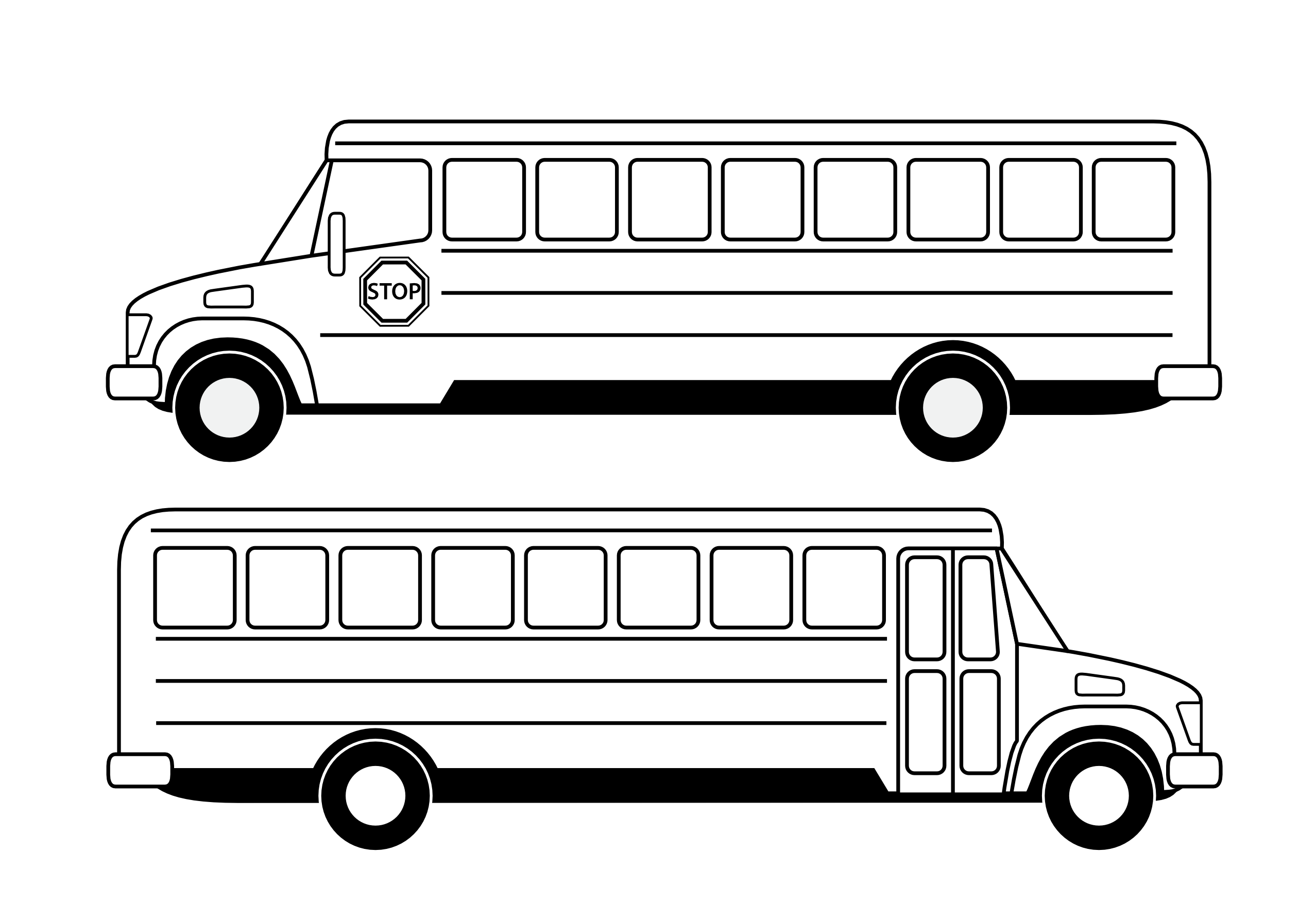 Best Bus Clipart Black And White #11176 - Clipartion.com