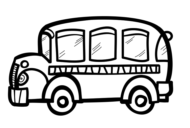Best Bus Clipart Black And White #11169