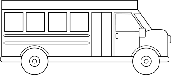 School Bus Line Art Free Clip Art