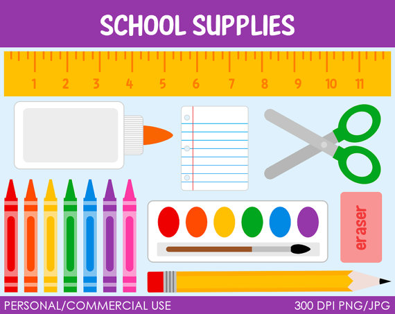 School Supplies Clipart - Clipartion.com