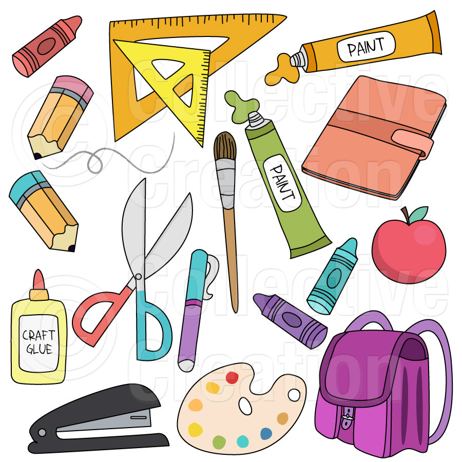 School Supplies Clip Art Download Free Share Submit Social Network