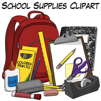 School Supplies Clip Artdigital Classroom Clipart Teachers