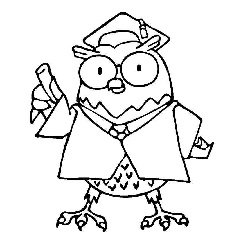 Smart Owl Clip Art Clipartion