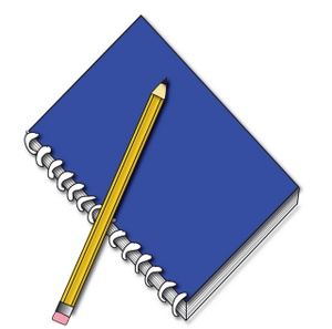 School Supplies Clipart Image Clip Art Illustration Of A Blue