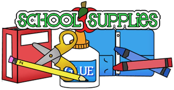 School Supplies With School Glue Clip Art Clip Art Pinterest