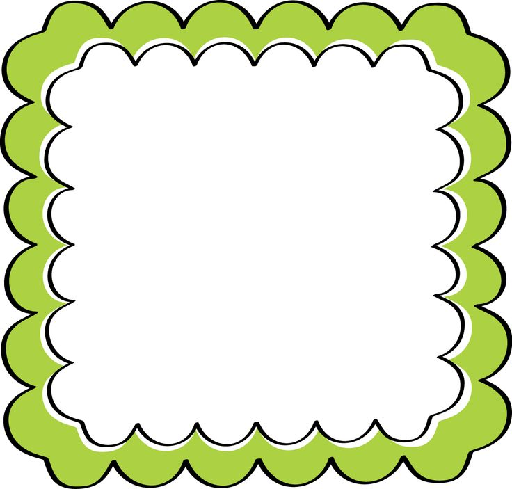 School Theme Border Clipart Green Scalloped Frame Free Clip